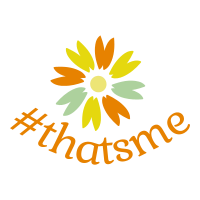 flower with hash tag thats me logo